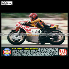 #TP Fiche Moto ALAIN TERRAS sur YAMAHA 750 OW 31 (1978 OW31 Pilote Champion)