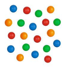 20 Bright Multi Coloured Floating Plastic Balls for Bubble Lamp Sensory Aquarium