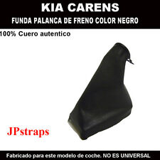 KIA CAREN -  FUNDA PALANCA DE FRENO 100% PIEL NATURAL COLOR NEGRO