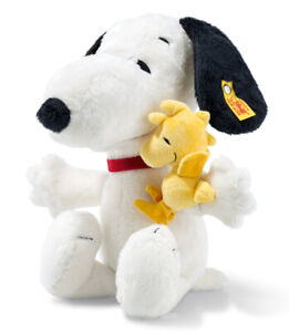 Steiff Snoopy & Woodstock - collectable cuddly soft toy dog - 29cm - EAN 658204