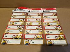 Minions self-stick adhesive gift tags 16 pack Christmas Birthday Lot of 3 packs