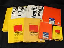 Vintage Photography Paper Lot Agfa Brovira Kodak Ilford Postcard 8x10 11x14 250+