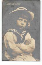 Real Photo-Prince Charles of Belgium-Flanders-Child-Posing-RPPC-Royalty Postcard