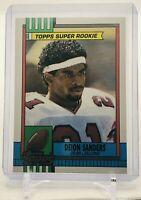 DEION SANDERS 1990 TOPPS Super Rookie Rookie Card #469