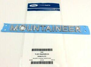 02-10 Mercury Mountaineer silver satin aluminum finish door or rear Emblem OEM