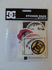 Pack of 10 Brand New Various DC Shoe Skateboard Skate Stickers / Decals Surf