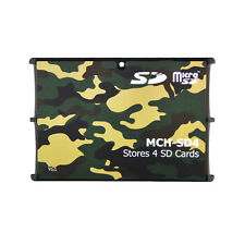 4 SD Holder Memory Card Protective Storage Case Write/Label Camouflage Holder