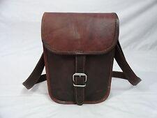 """9"""" Vintage Leather Messenger Bag Women Handbag Purse CrossBody Shoulder SlingBag"""