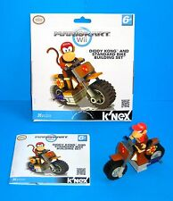 K'NEX Mariokart Wii Diddy Kong and Standard Bike Building Set COMPLETE VGC