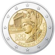 Pièces en euro, année 2018