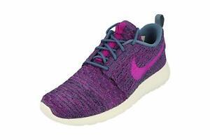Women's Nike Roshe One Flyknit Trainers Sneakers Blue/Purple/Pink Size UK 3