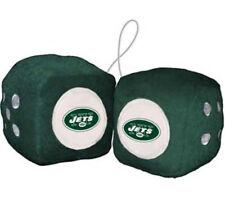 New York Jets Fuzzy Dice NFL Football Team Logo Plush Car Truck Auto