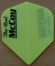 """5 Sets (5X3) McCoy """"Yellow"""" Ruthless Extra Strong Dart Flights"""