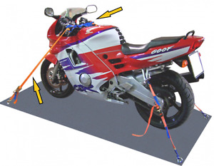 Motorcycle Motorbike Quad Tie Down Trailer Transport Ratchet Straps - set of 4