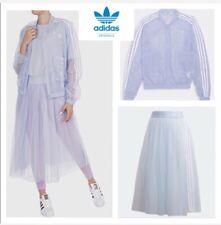 Adidas Original tulle mesh Sheer jacket and skirt outfit set Light Blue