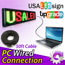 LED Sign Upgrade to PC version with Wired Connection (50 ft. Cat 5e)