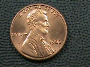 UNITED STATES 1 Cent 1982 UNC ZINC LARGE