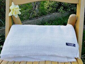 Cashmere Blanket Throw Travel Wrap Handmade NEPAL Home sofa Natural white tribal