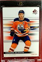 Connor McDavid 2020 SP Authentic Red Limited NHL Hot Oilers