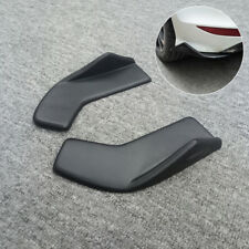 2x Universal Rear Bumper Spoiler lip Diffuser Rocker Winglet Scratch Guard Black