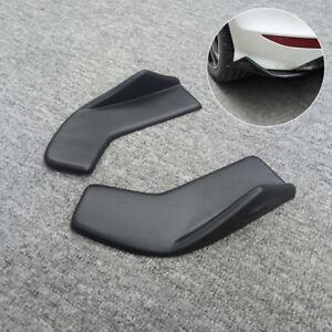 2x Universal Rear Bumper Spoiler lip Diffuser Rocker Winglet Scratch Guard Black