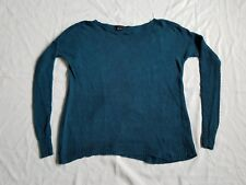 Theory Size S Blue/Green  100% Linen Sweater Long Sleeve (B10)