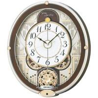 SEIKO CLOCK Wall Clock Radio Wave Analog 6 song melody RE577B EMS w/ Tracking