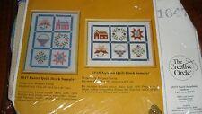The Creative Circle Ctd Cross Stitch Kit-Pastel Quilt Block Sampler-MIOP