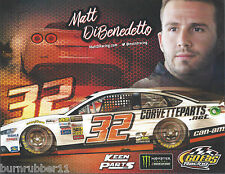 "2017 MATT DIBENEDETTO ""CORVETTE PARTS"" #32 MONSTER ENERGY NASCAR POSTCARD"