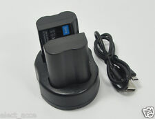 2x Battery+Charger EN-EL15 EL15a EL15e D500 D600 D610 D7000 D7100 D7200 D750 V1