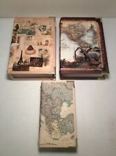 Book Safe Lot of 3 Hollow Wood Books Stores Valuables In Plain Sight Felt Inner