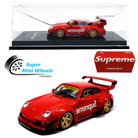 CM-Model 1:64  RWB Porsche 911 (993) Supreme (Red) - Detachable Wing - Diecast