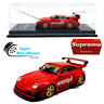 CM-Model 1:64  RWB Porsche 911 (993) Supreme (Red) - Detachable Wing - Diecast