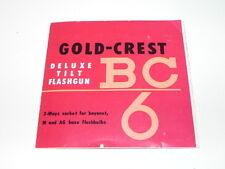 Pre-Owned vintage Gold -Crest Delux tilt Flashgun Manual