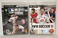 """2 Sony Playstation PS3 games. """"FIFA SOCCER 11"""" & """"MLB '09 THE SHOW""""  used"""