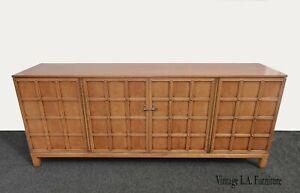 Vintage Mid Century Modern Henredon Credenza Buffet Sideboard w Brass Hardware
