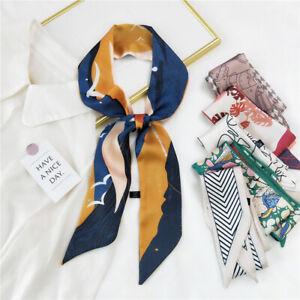 Summer Fall Long Ribbon Scarf Women Fashion Print Neckerchief Headband 120*6cm
