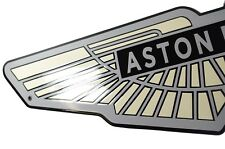 Enamel plaque ASTON MARTIN 21x80cm WARRANTY-10 years emblem sign logo plate