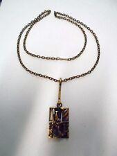 Jorma Laine, Finland: Vintage 70's Original Bronze Pendant with Chain. Signed
