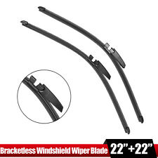 """Pair 22"""" Front Windshield Wiper Blade For Audi A4 A6 S4 Left & Right 4B0998002"""