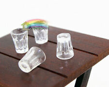 1:12 dollhouse accessories 4pcs transparent cups dollhouse miniature