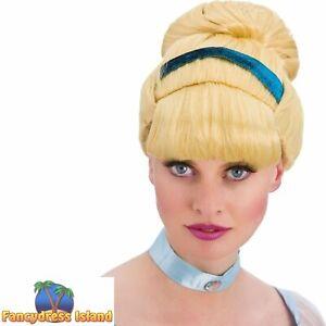 Blonde Sweet Cinders Cinderella Wig Fairytale Adult Womens Fancy Dress Costume