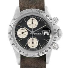 Tudor Big Block Black Dial Steel Vintage Mens Watch 94300