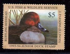 JDS1-JDS 1 1993 1ST Federal Junior Duck Stamp VFOGNH EBAY- 1/2 OFF $65CV START!