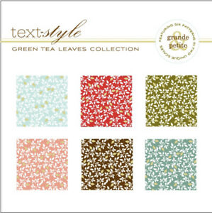 Papertrey Ink Stamps GREEN TEA LEAVES Cardstock Pad Patterned Paper Spring Fall