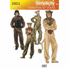 Simplicity SEWING PATTERN 2853 Adult Gorilla,Cat,Teddy,Lion Costumes XS-XL