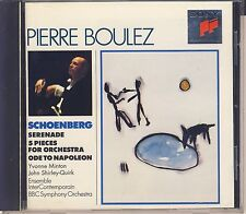 Schoenberg - Boulez: Serenade, Five Pieces For Orchestra (Sony) Like New