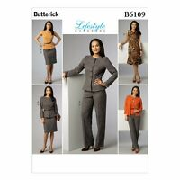 Misses 6-14 Jacket Top Dress Skirt Pants Butterick Pattern B6109 New Uncut Easy
