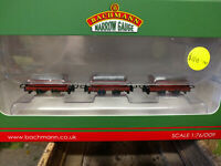 Bachmann Narrow Gauge 393-076 Set of three 4 wheel slate wagons with loads red