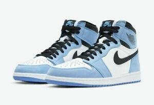 Nike Air Jordan 1 Retro High OG (GS) White/Black University Blue Size 4Y